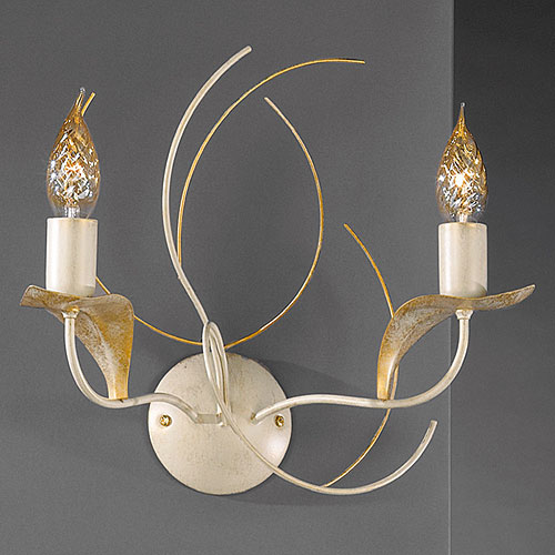 Angelica 2 Arm Wall Light Ivory