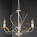 Angelica 3 Arm Chandelier Ivory
