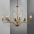 Angelica 8 Arm Chandelier Brown