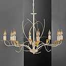 Angelica 8 Arm Chandelier Ivory