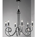 Alejandra 6 Arm Chandelier Black