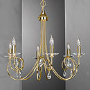 Alejandra 6 Arm Chandelier Gold