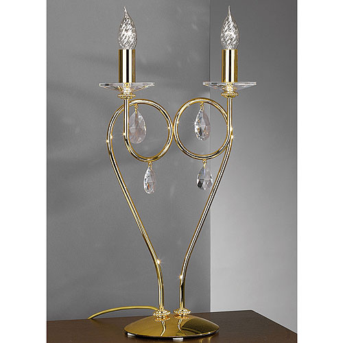 Alejandra 2 Arm Table Lamp Gold