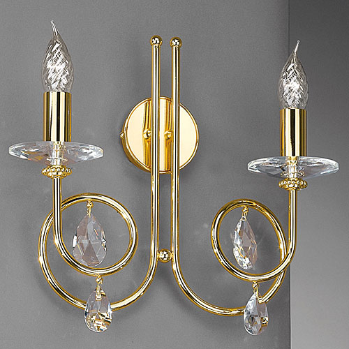 Alejandra 2 Arm Wall Light Gold