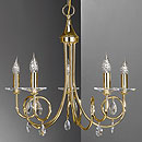 Alejandra 5 Arm Chandelier Gold