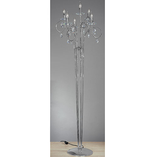 Alejandra 6 Arm Floor Lamp Chrome