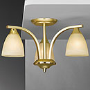 Dorchester 3 Arm Chandelier Satin Brass