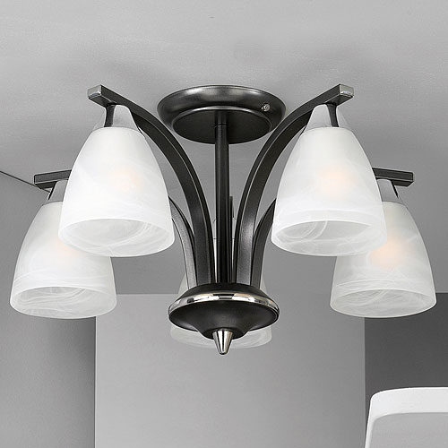Dorchester 5 Arm Chandelier Black
