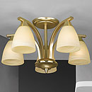 Dorchester 5 Arm Chandelier Satin Brass