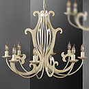 Pompei 8 Arm Chandelier Cream-Gold