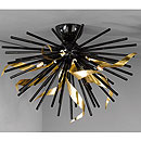 Riccio 3 Arm Ceiling Chandelier Black