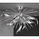 Riccio 3 Arm Ceiling Chandelier Chrome