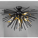 Riccio 5 Arm Ceiling Chandelier Black