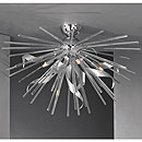 Riccio 5 Arm Ceiling Chandelier Chrome