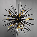 Riccio 10 Arm Chandelier Black