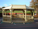 Small Kalahari Oval Pavilion Timber Roof Gazebo