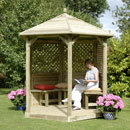 Premium Hexagonal Timber Roof Gazebo