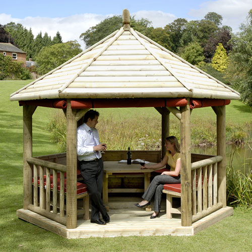 Classic Hexagonal Timber Roof Gazebo