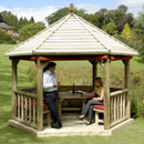 Imperial Hexagonal Timber Roof Gazebo