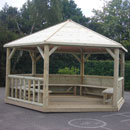 Emporer Hexagonal Timber Roof Gazebo
