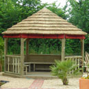 Imperial Hexagonal Thatched Roof Gazebo