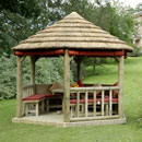 Royal Hexagonal Thatched Roof Gazebo