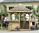 Classic Hexagonal Sundowner Bar Thatched Gazebo