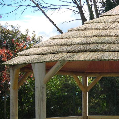 Emperor Hexagonal Thatched Roof Gazebo