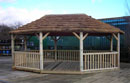 Large Kalahari Oval Pavilion Thatched Roof Gazebo
