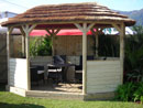Small Kalahari Oval Pavilion Thatched Roof Gazebo