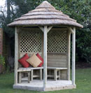 Premium Hexagonal Thatched Roof Gazebo