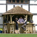 Royal Thatched Lean To Bar