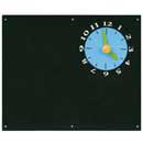 Blue Rabbit Blackboard with Clock