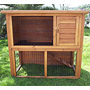 Double Storey Rabbit Hutch 1800mm No Floor