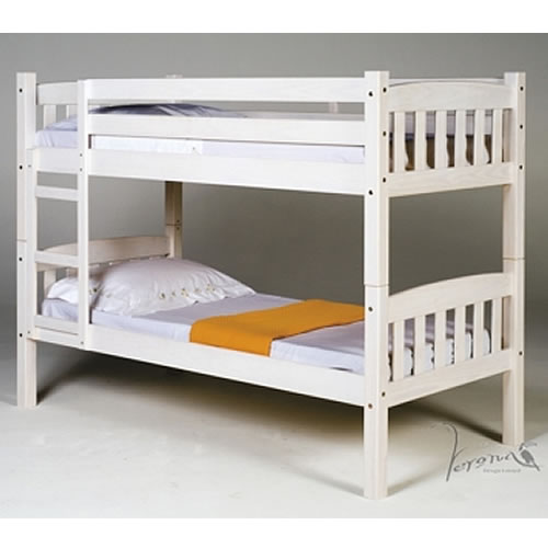 Verona America Bunk bed 3ft White Wash