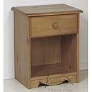 Verona Antique 1 Drawer Bedside