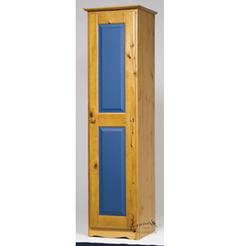 Verona Blue 1 Door Wardrobe