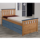 Verona Captains 3ft Blue Storage Bed Ferrara