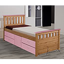 Verona Captains 3ft Pink Storage Bed Ferrara