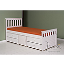 Verona Captains 3ft Storage Bed Ferrara Whitewash