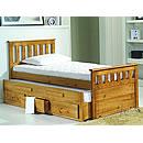 Verona America Bunk Bed 3ft White Wash