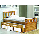 Verona Captains 3ft White Bed and Underbed With Storage Bergamo