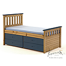 Verona Kids Captains 3ft Blue Storage Bed Ferrara