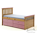 Verona Kids Captains 3ft Pink Storage Bed Ferrara