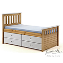 Verona Kids Captains 3ft White Storage Bed Ferrara