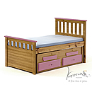 Verona Kids Captains 3ft Pink Underbed with Storage Bergamo