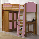 Verona Pink High Sleeper Bed Set 1