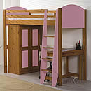 Verona Pink High Sleeper Bed Set 2