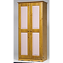 Verona Pink 2 Door Wardrobe Version A