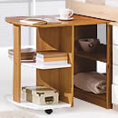 Verona White Midsleeper Pull Out Desk
